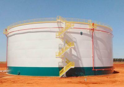 Reservatório de Etanol de 20.000m³ da Usina Cerradinho Bio